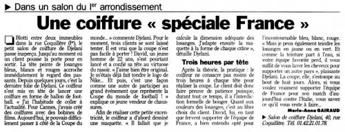 une coiffure speciale france